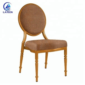 Unique Design Dinging Room Round Back Banquet French Louis Chair