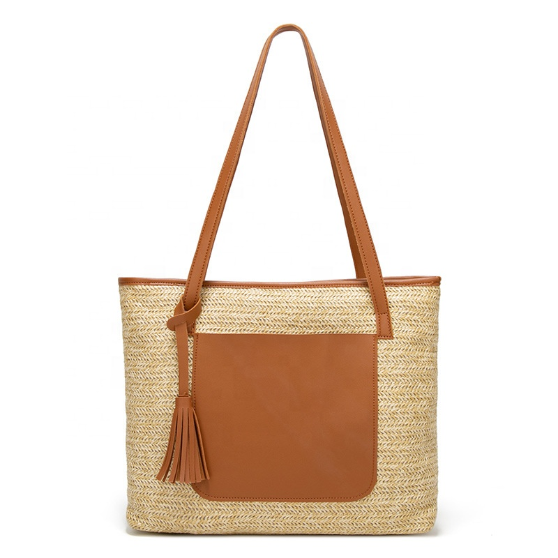2019 summer new best selling straw bag rattan beach bag vacation out large capacity handbag for women rattan bag bali
