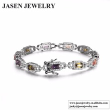 Colorful women bracelet cz diamond-jewelry bracelets & bangles luxury wedding gift fashion accessories jewellery