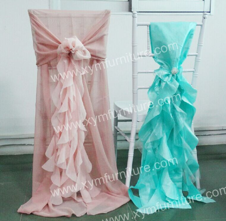 Fancy Ruffled Chiavari Chair Cover For Wedding Wedding