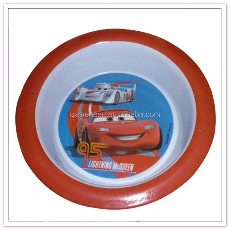 Cartoon ant print kids safe heat-resisting plastic soup bowl , melamine rice bowl sets
