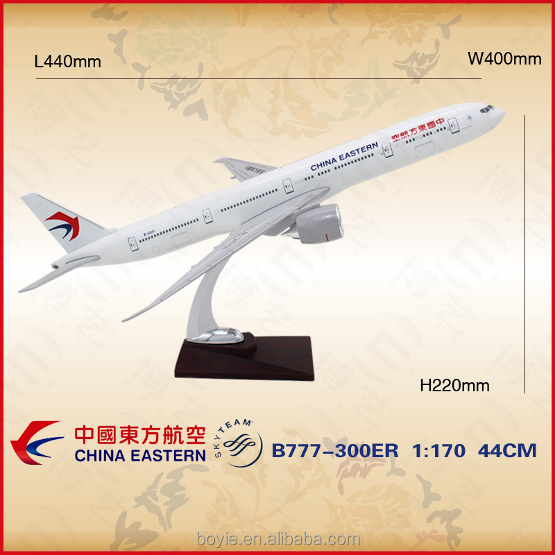 Different scale customized China Eastern airline 1/170 resin plane kit boeing adults airplane toys with your own logo