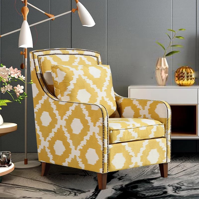 N503 Fabric Arm Chair/hotel Lobby Chair Armrest / Luxury Hotel ...