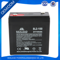 2v100ah rechargeable battery with lead acid for backup power system