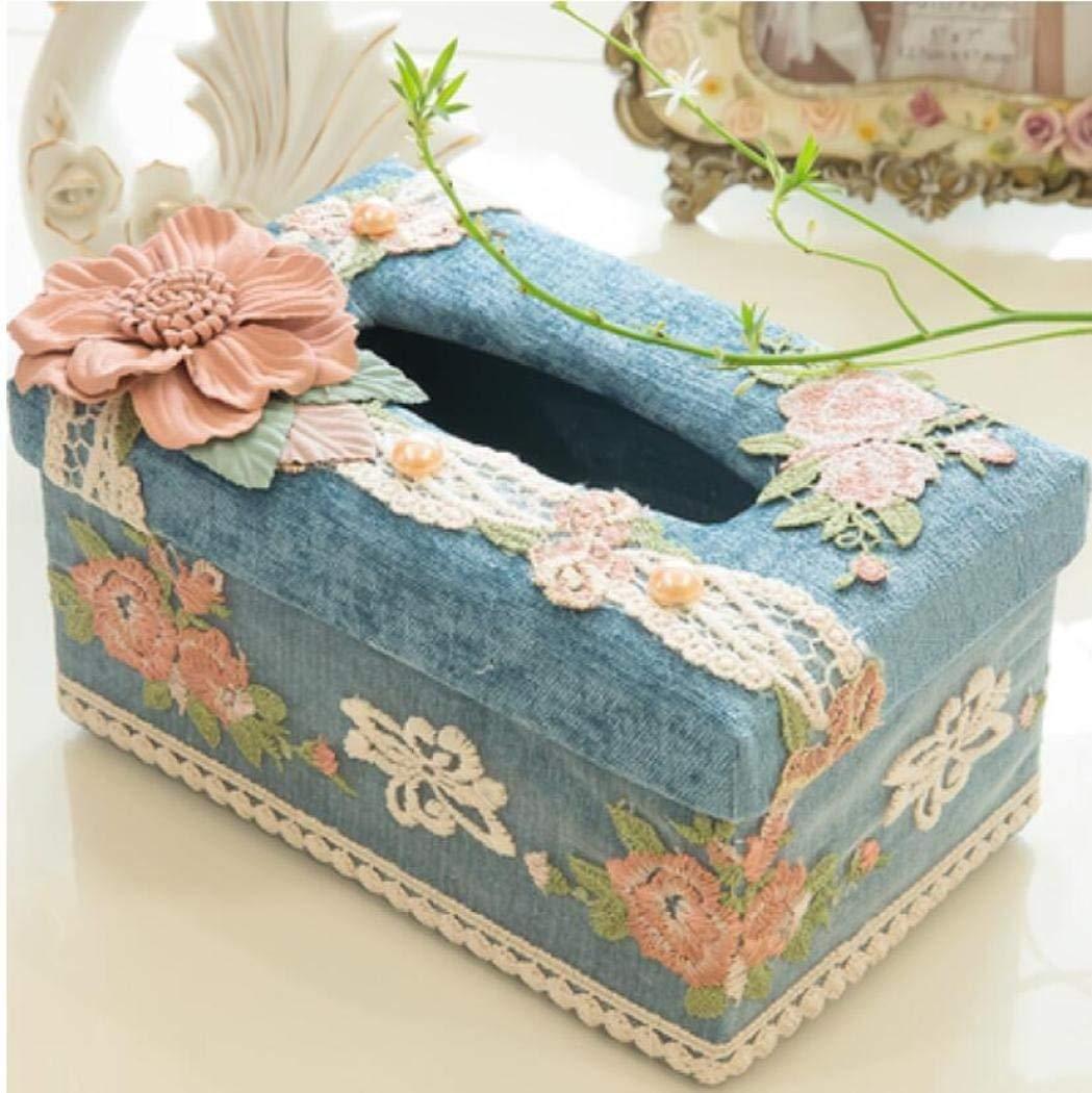 LaaLaa House Tissue Holder Box,Multifunction Multicolor tissue box,Cloth art living room bedroom coffee table desktop Storage Box Remote box,bath accessories tissue box,A1