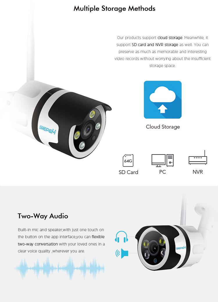 Cmos Wireless Video Surveillance System Cloud Ip Camera With Memory Storage  - Buy Ip Wireless Camera,Wireless Cloud Ip Camera,Wireless Video