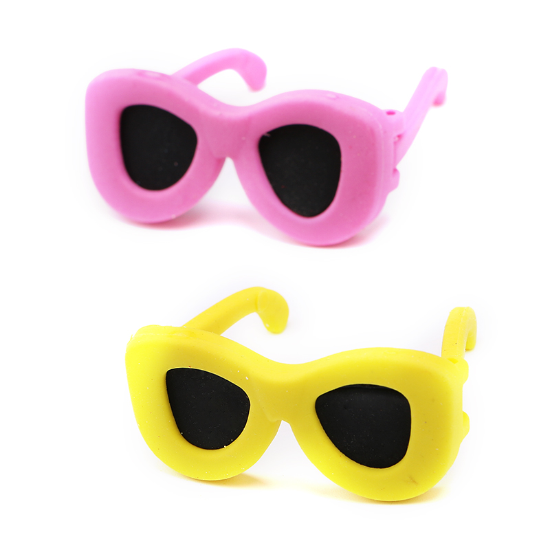 Cartoon sunglasses shape eraser for kids