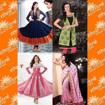 Indian Pakistani Designer Bandhani Designs Anarkali Lehenga Salwar ...