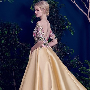 Heavy Beaded Long Evening Dress Wedding Reception Dresses 2017