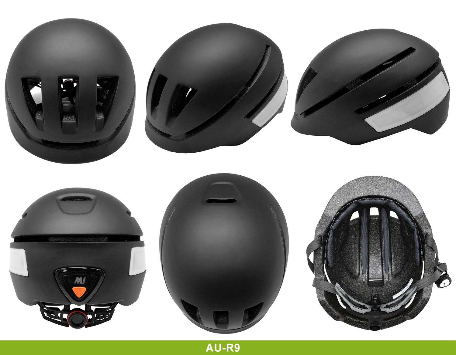 popular rechargeable LED electric bike riding helmet 7