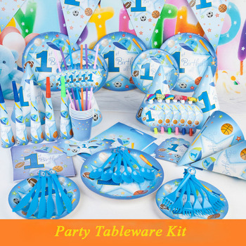 Sport Themed Combined Party Dishes And Decorations Baby S 1st Beach