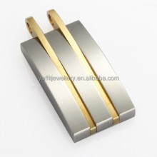 fashion jewelry wholesale gold plated surgical steel pendants