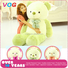 Soft stuffed valentine's day toys 2 meters big giant plush blue teddy bear name custom animal toy skin