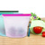Hot Selling Large Reusable BPA Free Silicone Food Storage Bag with Zipper