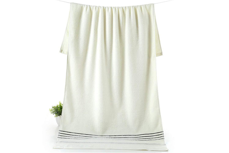 cf36b4645304 Get Quotations · FANRENYOU White 100% Cotton Bath Towel Jacquard Sheared  Striped Kids Adults Face Towel Soft Yarn