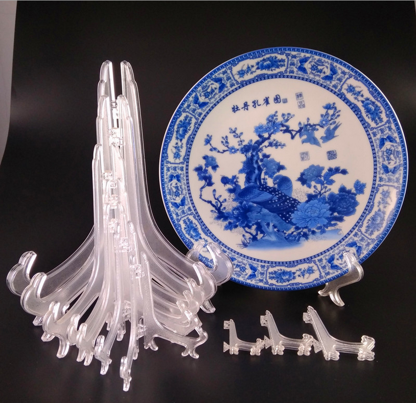 4-24cm Height Dish Holder Plastic Plate Display Stand For Sell
