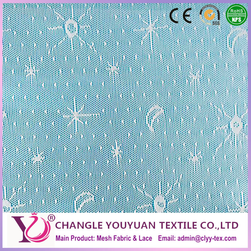 Sun Moon And Star Pattern Knit Dot Net Mesh Fabric For Costume - Buy ...