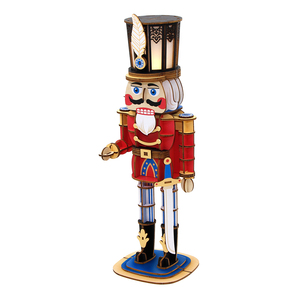 Popular 3D Decorative Wooden Nutcracker Lamp Puzzle For Family