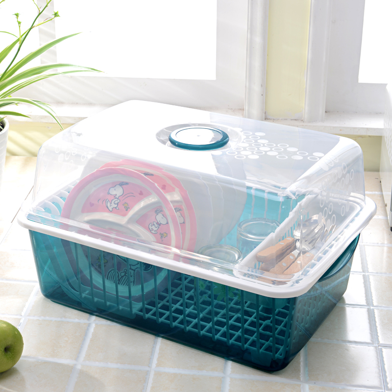 big size two layers plastic drainning dish rack with cover kitchen storage dish rack & Big Size Two Layers Plastic Drainning Dish Rack With Cover Kitchen ...