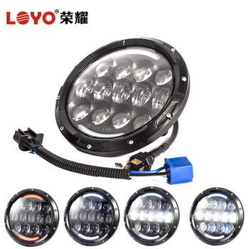 auto light factory DOT Emark approved 7 inch led headlight for jeep liberty headlights