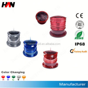 Solar Powered Aircraft Warning Light/ Solar Obstruction Lights/ Solar Obstacle Signal Beacon