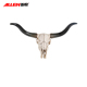 Wholesale Polyresin Lifelike Wall Mounted Animal Head Statue resin Cow Skull
