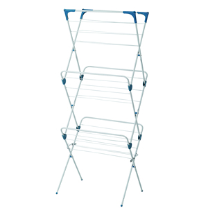 Houseware folding balcony floor clothes drying rack