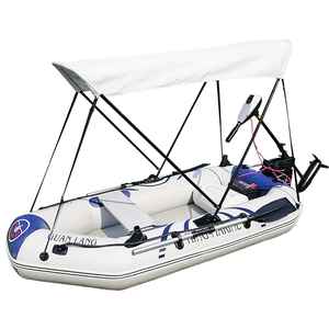 light 4 person air pontoon boats fishing lake fishing boats with electric motor for sale