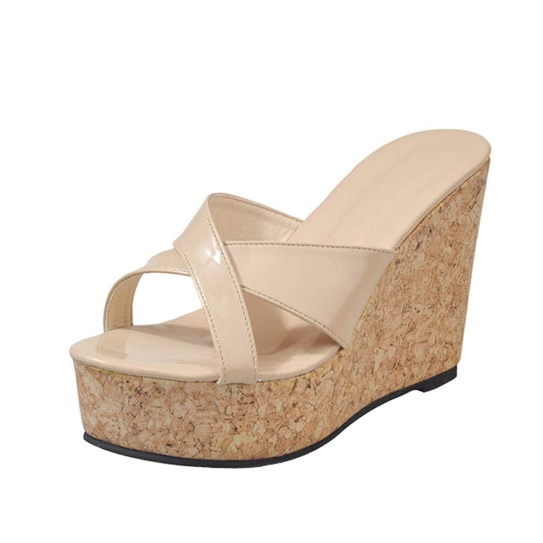 G&Kshop Platform Wedge Sandal,Women Platform Heels Open Toe Sandals Casual High Heels