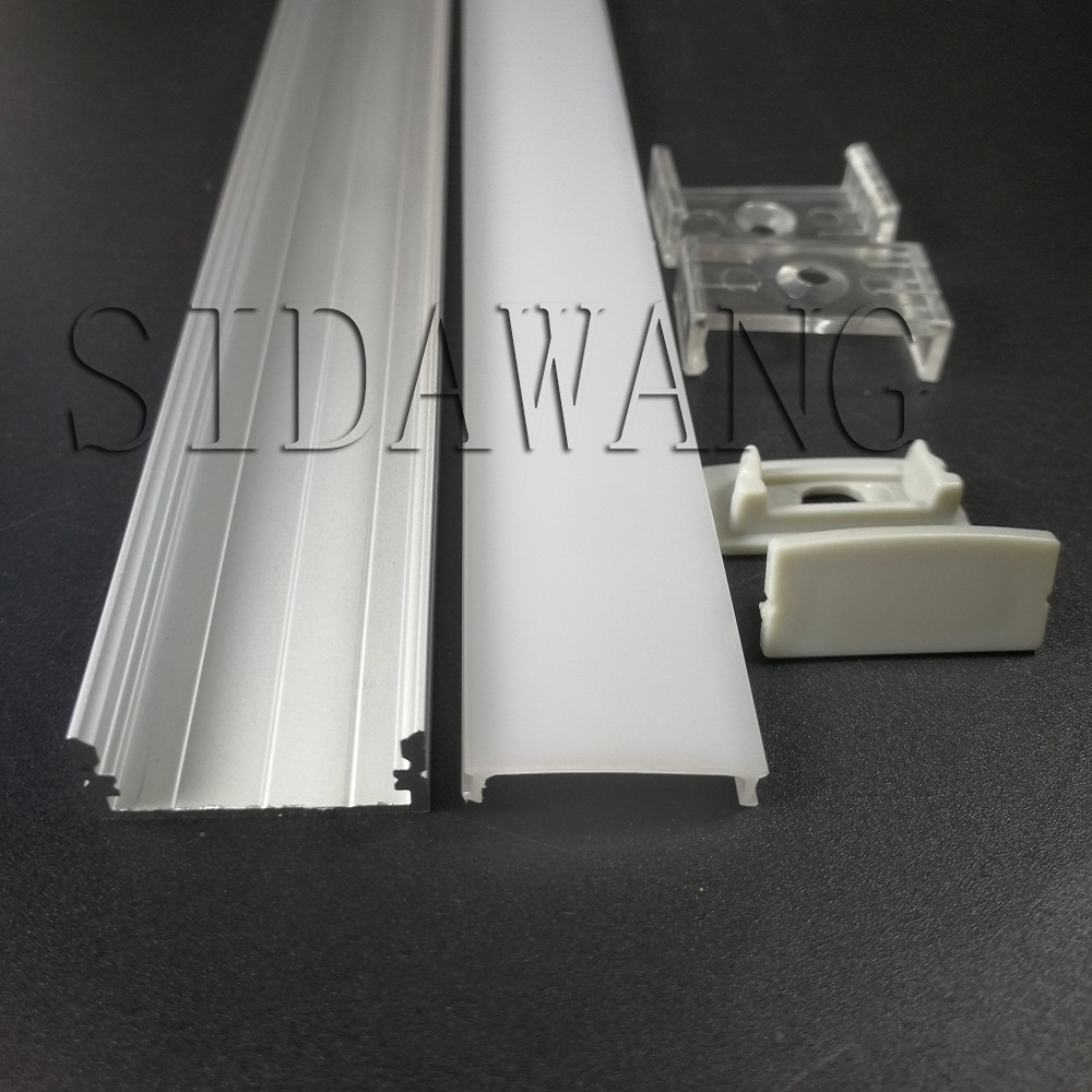 10set 2m Recessed mount aluminum profile led profile alu for 20mm double row led strip SDW097