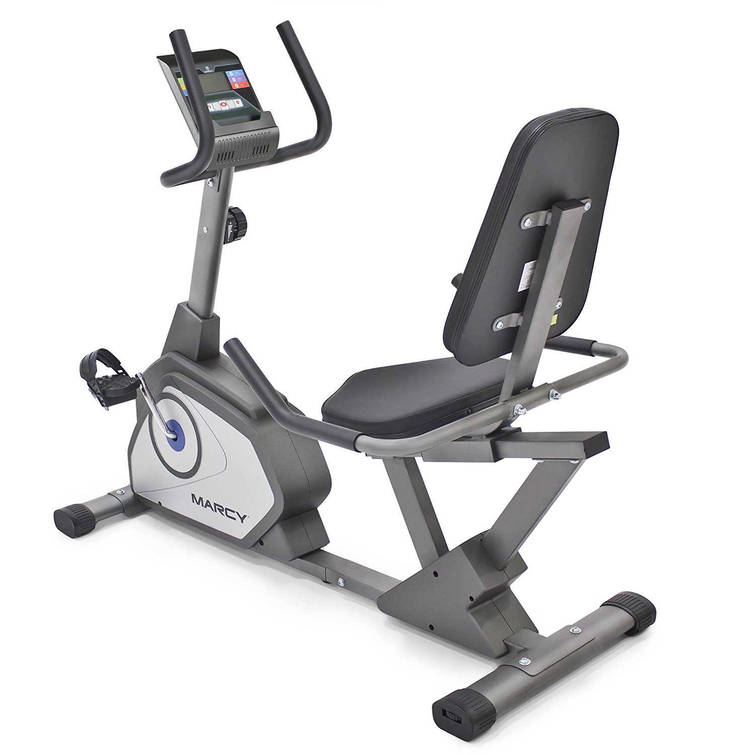 dc8e267bbde Get Quotations · Marcy Magnetic Recumbent Exercise Bike with 8 Resistance  Levels NS-40502R