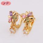 Guangzhou Hengdian Bulk Wholesale Most Beautiful 24 Carat Gold Earrings