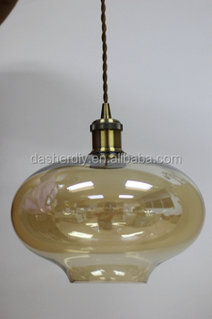 Vintage nordic glass pendant lamp clear amber color hand blown vintage nordic glass pendant lamp clear amber color hand blown glass hanging lamp aloadofball Choice Image