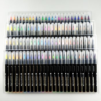 Amazon Popular product 100colors watercolor brush blending marker pen set