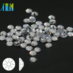 Supply Excellent Quality Crystal Hot Fix Rhinestones 16 Cut Facets Hotfix Stones Iron On Rhinestone Designs Supply, SC-001