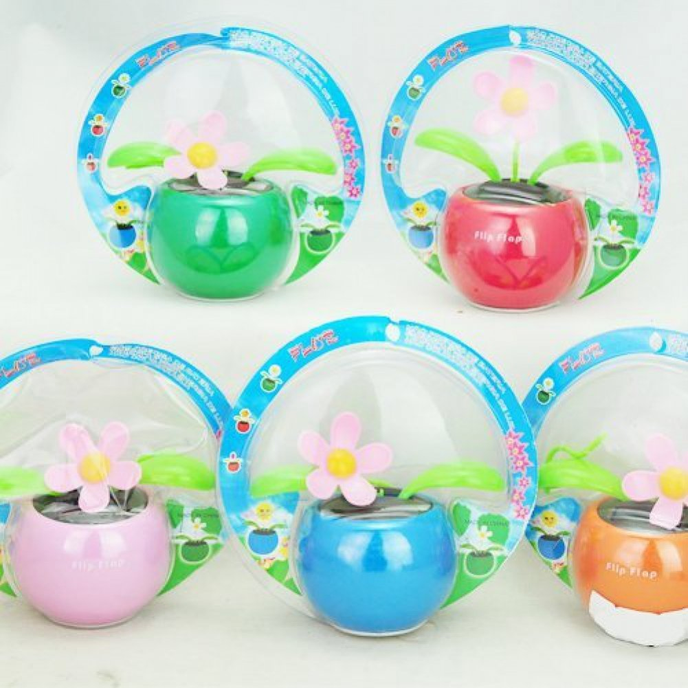 ccd0544b7 Gangnam Shop New Solar Powered Flip Flap Flower Cool Car Decoration Dancing  Toys - Random Color