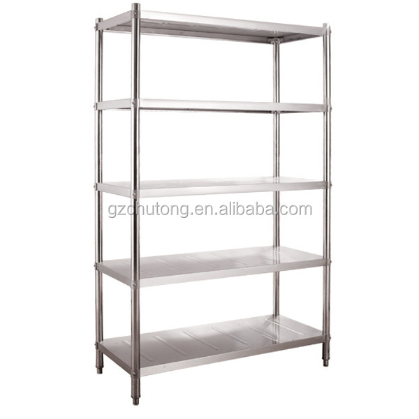 Stainless Steel Commercial Kitchen Shelf Embling Storage 4 Decks