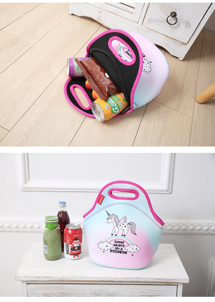 Amazon Hot Selling Insulation Lunch Bag Fruit Food Juice Camping  Insulation Bag