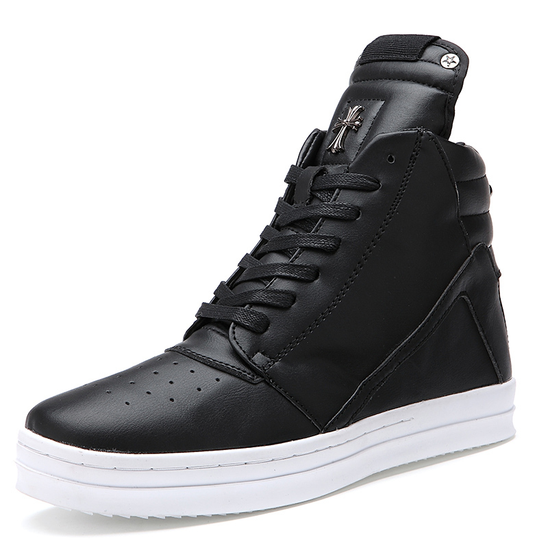 e9cf1c98a3383 Buy Hot Sale Justin Bieber Men  39 s Sneakers 2015 Brand Sports Leisure Shoes  Men Hip Hop Shoes Black White Shoes High-top 39-45 in Cheap Price on ...