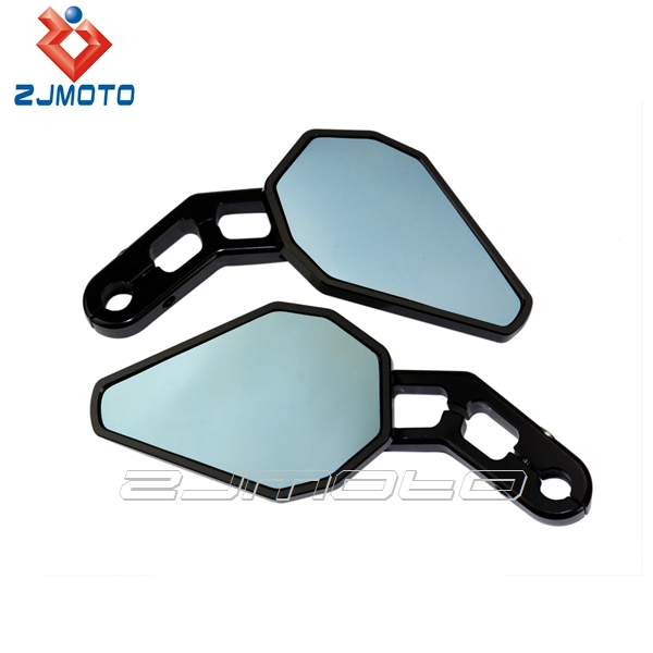 "Universal CNC Aluminum 180 Degree Adjustable Motorcycle Mirrors Fit for Sportsbikes with  1"" and 7/8"" Handlebar"