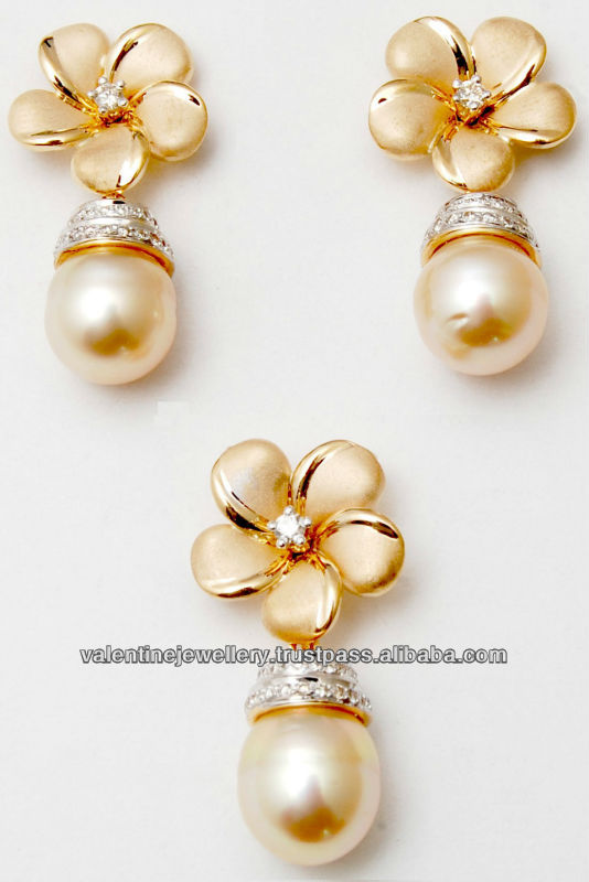 Wholesale pearl jewelry manufacturer18k solid gold flower pearl wholesale pearl jewelry manufacturer18k solid gold flower pearl pendant setfashionable and trendy pearl pendent earring set buy wholesale pearl jewelry mozeypictures Choice Image