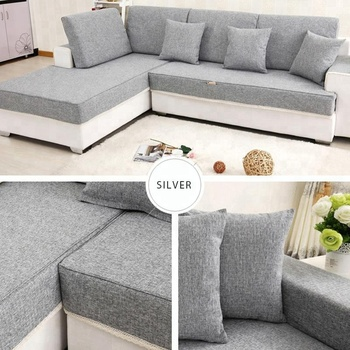 Wholesale Factory Price Colourful Polyester Sofa Cover L Shaped Set