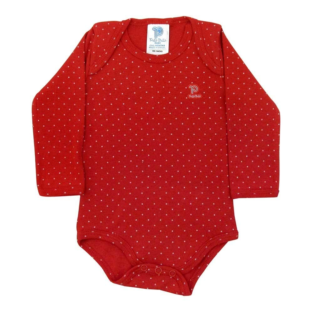 0b13347f494 Get Quotations · Pulla Bulla Polka Dot Long Sleeve Bodysuit Fall for Ages 0- 18 Months