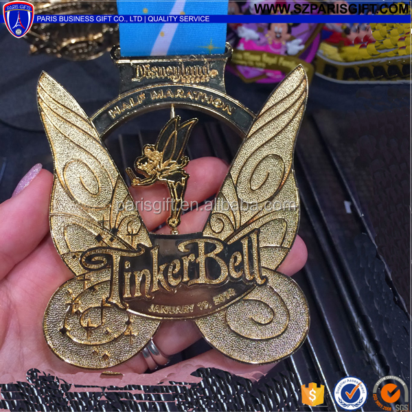 Wonderfully Tinker Bell Half Marathon Medal Sports Medal With Ribbon