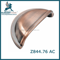 Shenzhen factory new design antique copper kitchen door handles