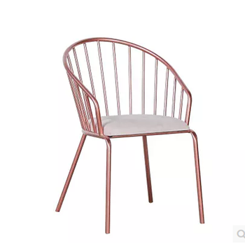 Cheap Price colourful high quality dining chair golden metal restaurant chair