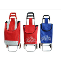 Foldable Shopping Trolley Shopping Trolley Bag On Wheels Vegetable Folding Wheeled Light Weight Shopping Trolley