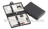 Business style manicure set with cosmetic brushes