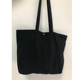 Custom Reusable Utility Logo Printed Snap Button Closure Black Tote Canvas Bag With Side Mesh Pocket