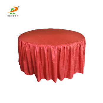 Fancy Wrinkle Crinkle Crushed Banquet Round Tablecloths With Rh Alibaba Com Table Skirts Bedroom